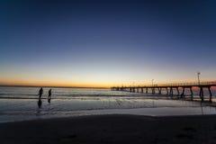 Glenelg beach Stock Photos