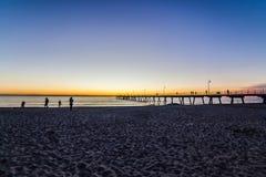 Glenelg beach Stock Photo