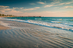 Glenelg Beach jetty with people Royalty Free Stock Images