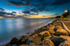 Glenelg Beach at Sunset Stock Photography