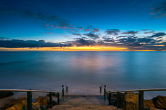 Glenelg Beach at Sunset Royalty Free Stock Images