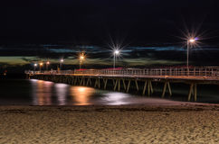 Glenelg Jetty at night Royalty Free Stock Photo