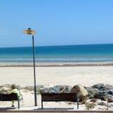 Glenelg-Strand in Adelaide Stockbilder