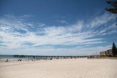 Glenelg-Strand, Adelaide Lizenzfreie Stockfotos