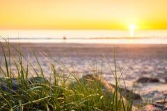 Glenelg-Strand bei Sonnenuntergang Lizenzfreies Stockfoto
