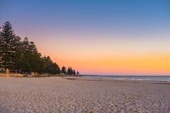 Glenelg strandsikt på solnedgången Arkivfoto