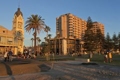 Glenelg Town Hall Adelaide South Australi. Glenelg Town Hall in Glenelg, a popular  beach-side suburb of Adelaide the capital city of South Australia stock photography