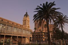Glenelg Town Hall Adelaide South Australi. Glenelg Town Hall in Glenelg, a popular  beach-side suburb of Adelaide the capital city of South Australia royalty free stock photos