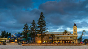 Glenelg Town Hall with people around at sunset Royalty Free Stock Photo