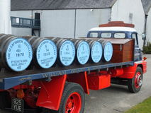 Glenfiddich barrels on a branded truck Stock Photography
