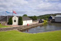 Glenfiddich distillery. One of Scotland's oldest family owned distilleries stock image