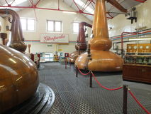Glenfiddich whisky distillery stills Royalty Free Stock Photography