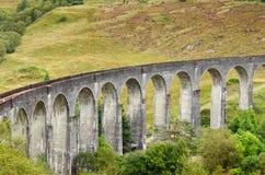 Glenfinnan高架桥,苏格兰 免版税库存照片