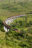 Glenfinnan高架桥, Lochaber,高地,苏格兰 免版税库存图片
