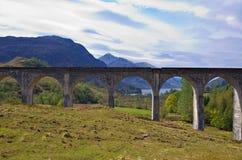 Glenfinnan aqueduct at Loch Shiel Royalty Free Stock Image