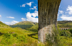 Glenfinnan historic rail viaduct in Scottish Highlands Royalty Free Stock Images