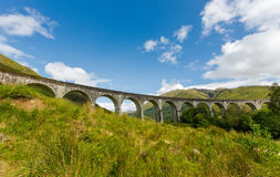 Glenfinnan historic rail viaduct in Scottish Highlands Royalty Free Stock Photography