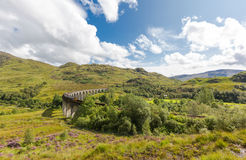 Glenfinnan historic rail viaduct in Scottish Highlands Stock Photography