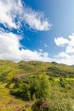 Glenfinnan historic rail viaduct in Scottish Highlands Stock Image
