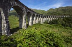 Glenfinnan historic rail viaduct in Scottish Highlands, Uniited Kingdom. royalty free stock photos