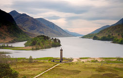 Glenfinnan monument at Loch Shiel Royalty Free Stock Image