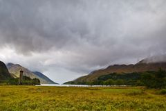 Glenfinnan Monument and Loch Shiel Royalty Free Stock Images