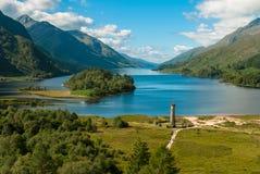 Glenfinnan monument. In Loch Shiel Royalty Free Stock Photo