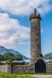 Glenfinnan monument in Loch Shiel in Scotland. Glenfinnan monument in Loch Shiel Stock Photos