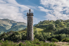 Glenfinnan monument in Loch Shiel in Scotland Royalty Free Stock Images