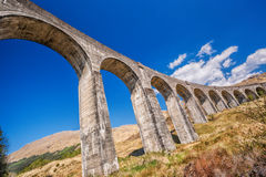 Glenfinnan Railway Viaduct in Scotland stock images