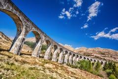 Glenfinnan Railway Viaduct in Scotland royalty free stock photo