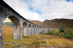 Glenfinnan Viaduct. A view of the Glenfinnan Viaduct with the surrounding landscape in wonderfull autumn colours Stock Images