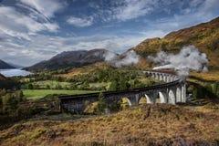 glenfinnan viaduct Royaltyfria Bilder