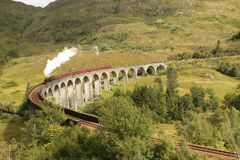 Glenfinnan Viaduct Stockfotos