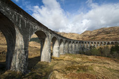 glenfinnan viaduct royaltyfri foto
