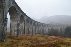 Glenfinnan Viaduct lizenzfreie stockfotos