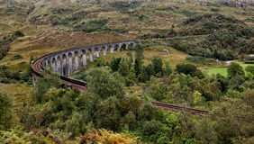 Glenfinnan viaduct. The famous Glenfinnan Viaduct which carries the steam train from Fort William to Mallaig Royalty Free Stock Images