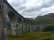 Glenfinnan viaduct. The famous Glenfinnan Viaduct which carries the steam train from Fort William to Mallaig Royalty Free Stock Photo