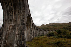 Glenfinnan viaduct. The famous Glenfinnan Viaduct which carries the steam train from Fort William to Mallaig Stock Photo