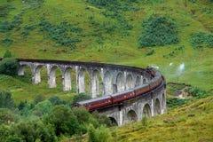Glenfinnan Viaduct in green anbiance Stock Photos