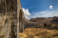 Glenfinnan viaduct Harry Potter train bridge Royalty Free Stock Photography