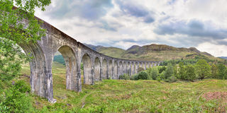 Glenfinnan Viaduct in Highlands Royalty Free Stock Photo