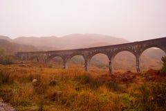 Glenfinnan Viaduct, Loch Sheil stock images