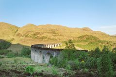 The Glenfinnan Viaduct in Scotland stock image