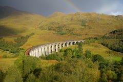 Glenfinnan Viaduct Scotland Panorama fall royalty free stock photo