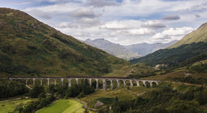 Glenfinnan Viaduct. In Scotland which was featured in Harry Potter movies Royalty Free Stock Image