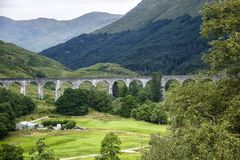 Glenfinnan Viaduct in Scottish Highlands. royalty free stock image