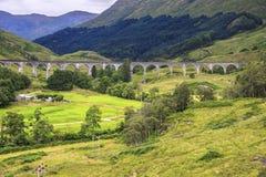Glenfinnan Viaduct in Scottish Highlands. royalty free stock photos