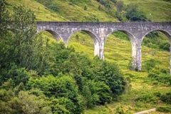 Glenfinnan Viaduct in Scottish Highlands. stock photos