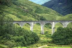 Glenfinnan Viaduct in Scottish Highlands. royalty free stock photography